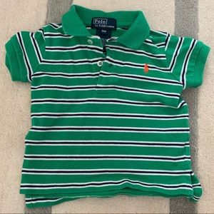 🏇🏼 2/$20 Green Polo Ralph Lauren Stripe Polo 9m